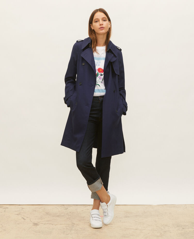 Trench iconique en coton Maritime blue Lambert