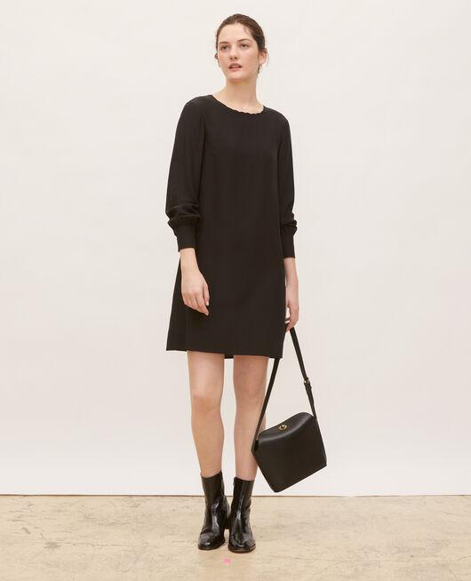 Robe en soie ample et courte BLACK BEAUTY