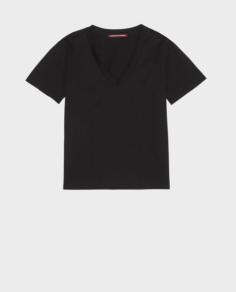T-shirt en coton égyptien Black beauty Laberne