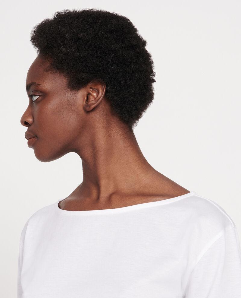 T-shirt en coton égyptien Optical white Lotel