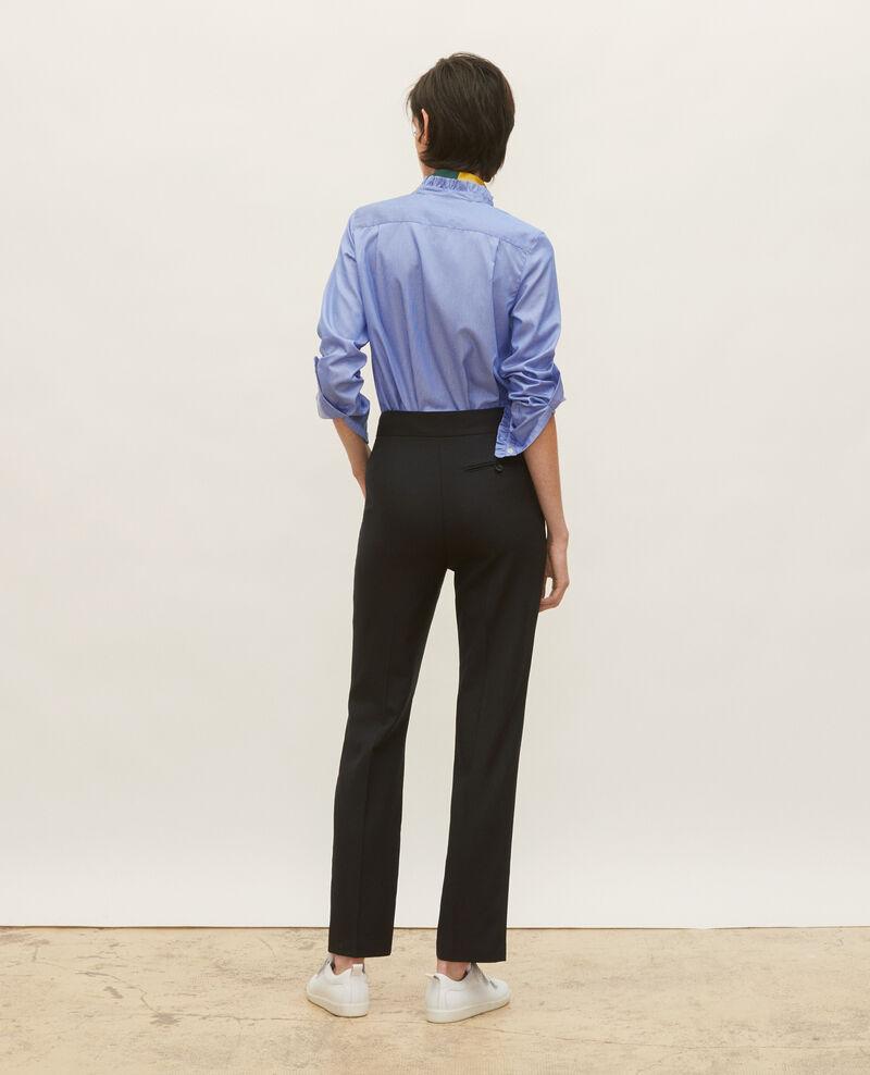 Pantalon droit en laine masculin  Black beauty Lisabelle