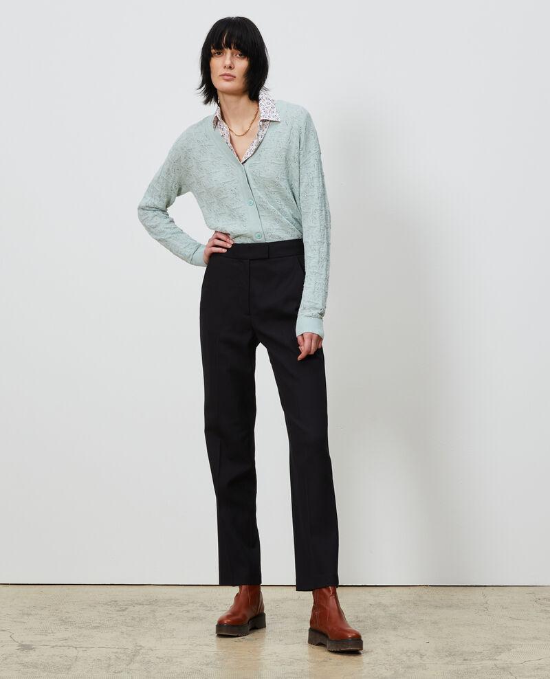 Pantalon MARCELLE, droit en laine masculin Black beauty Lisabelle
