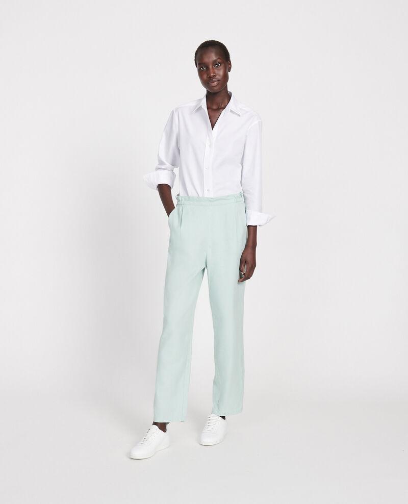Pantalon élastiqué « easy wear »en lin Blue haze Loranki