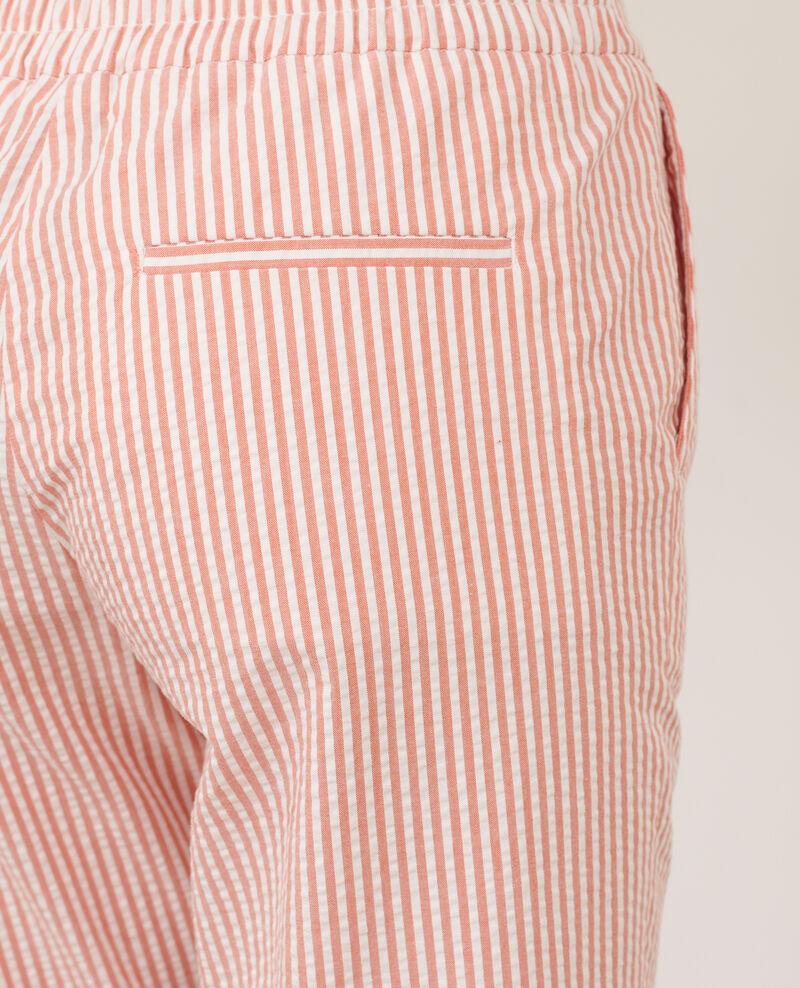 Pantalon MARGUERITE, 7/8e cigarette en coton Str purepumpkin white Nyokeasy