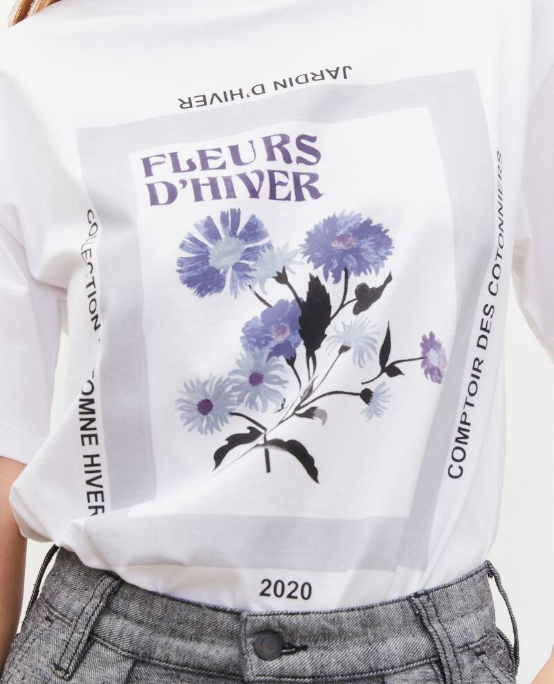 T-shirt en coton manches courtes ample Light grey melange Masny