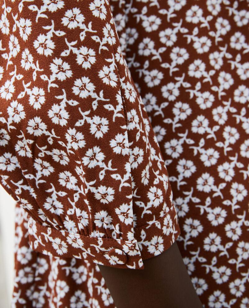 Robe portefeuille évasée à imprimé fleuri Print fleurettes tortoise shell Miremonta