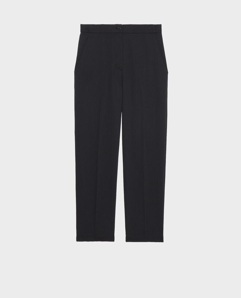 Pantalon MARGUERITE, élastiqué 7/8e Black beauty Napoli