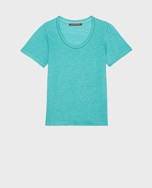 T-shirt en lin BRIGHT AQUA