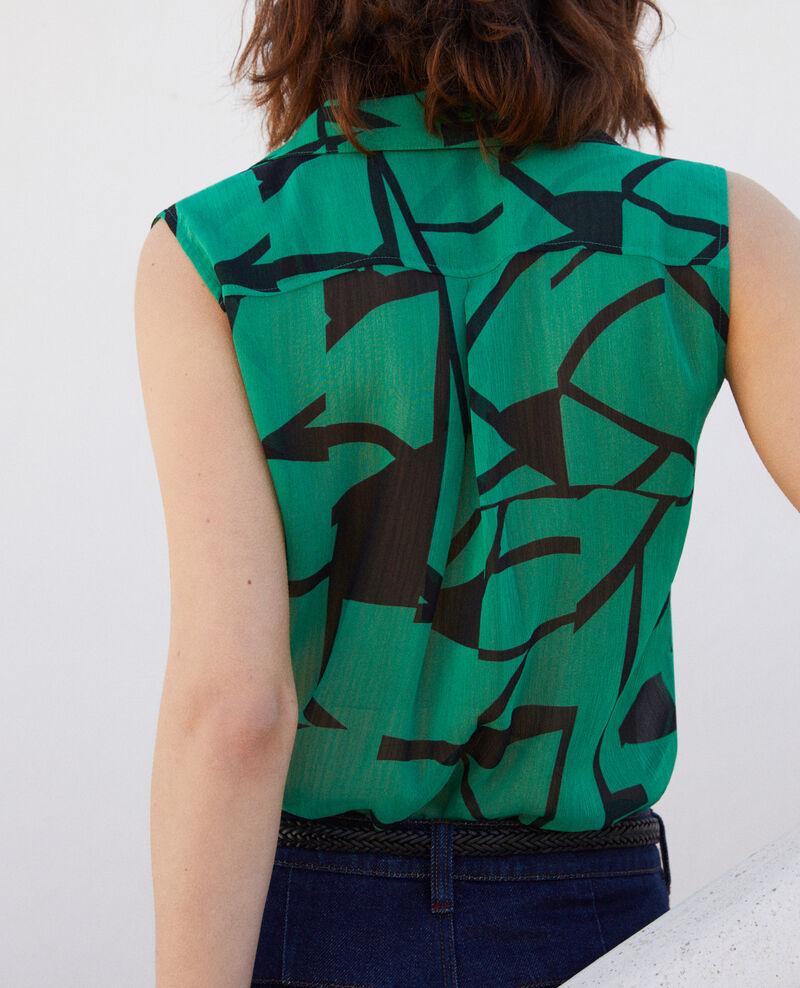 Blouse imprimée Primitive lines green Imitive