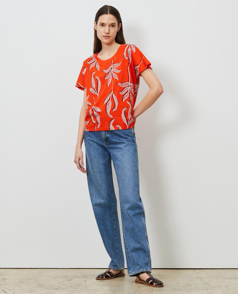 T-shirt col rond en coton Prt bot spicy Nimeric