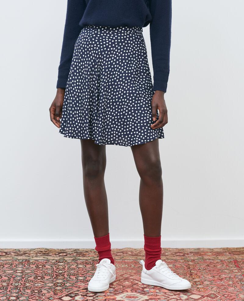 Jupe courte en soie Small dots Naurau
