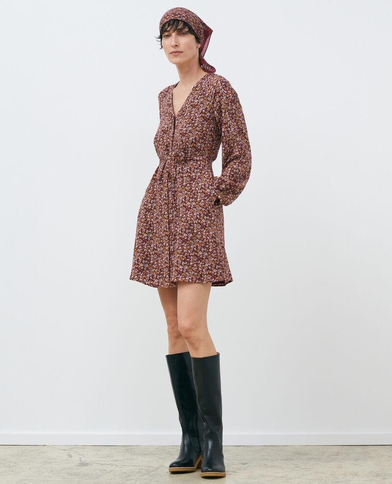 Robe courte en soie Liberty cabernet Pavishy