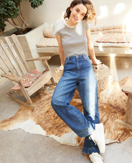 Jean coupe wide full length Bleu