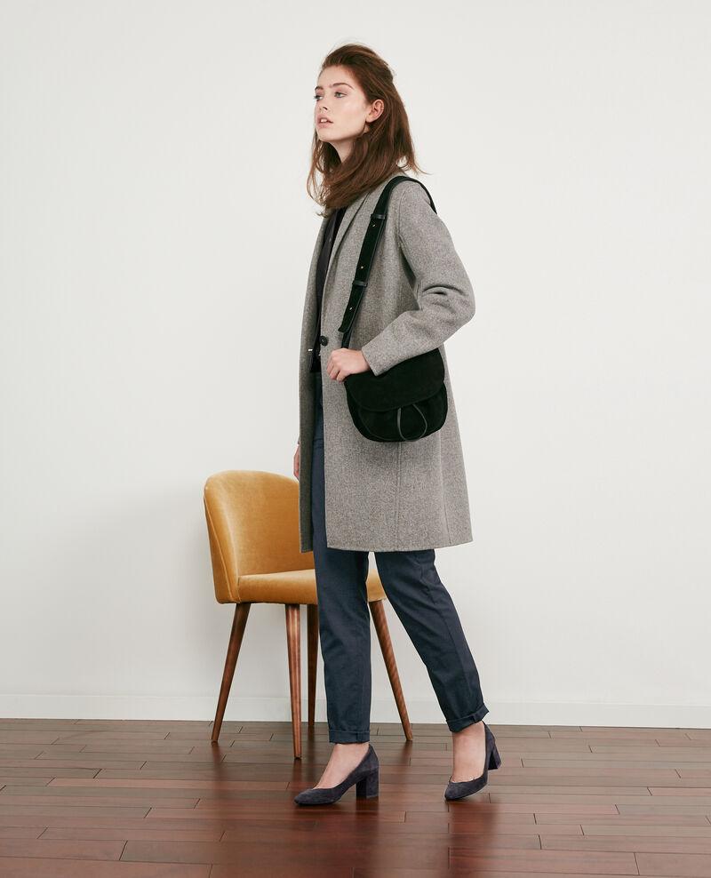 Manteau en laine double face Medium heather grey 9dexpresso