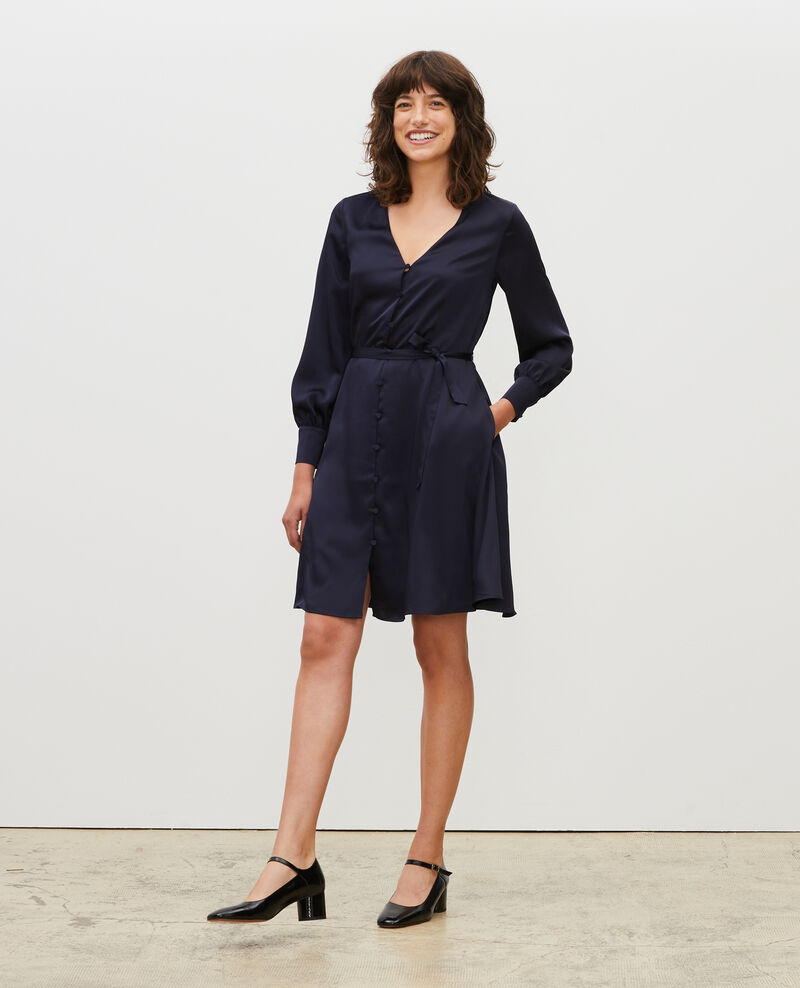 Robe courte ample boutonnée Night sky Margonou