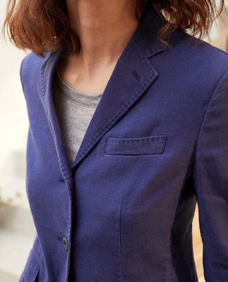 Veste de costume avec du lin Sapphire navy Ibea