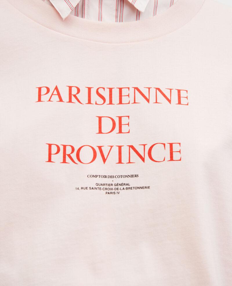 T-shirt en coton manches courtes Seashell pink Mara