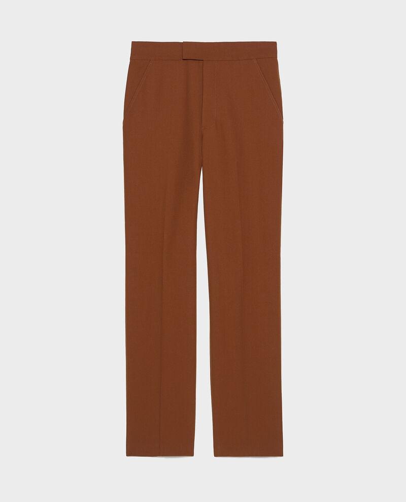 Pantalon MARCELLE, droit en laine masculin Monks robe Lisabelle
