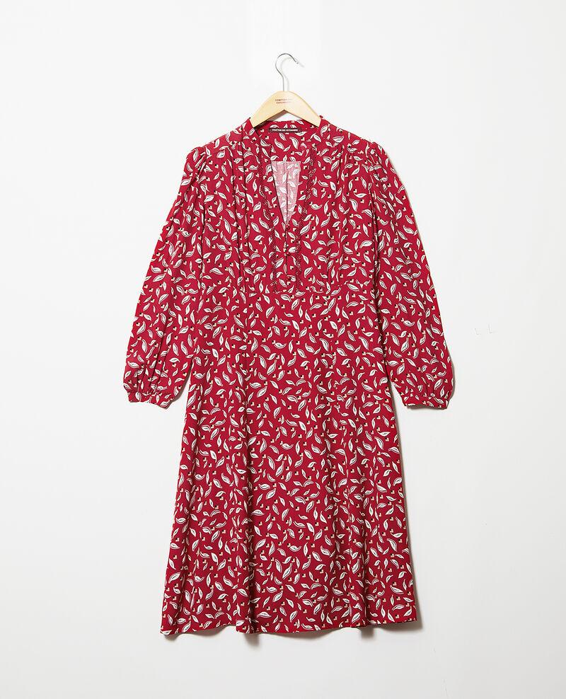 Robe imprimée Earth red Gaetane