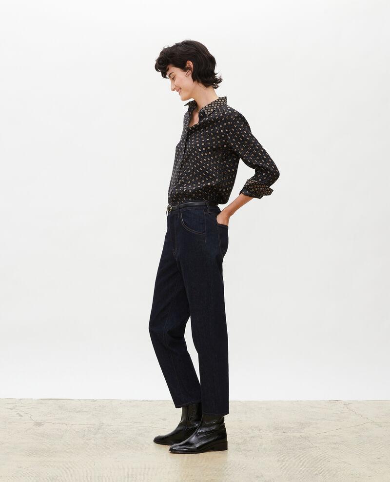 TOMBOY - Jean ample taille mi-haute 5 poches Denim rinse Merona