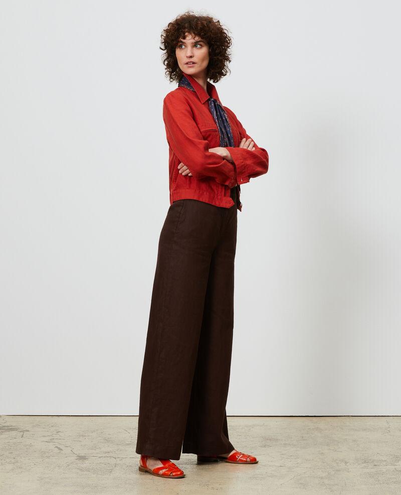 Pantalon taille haute en lin Mole Neronde