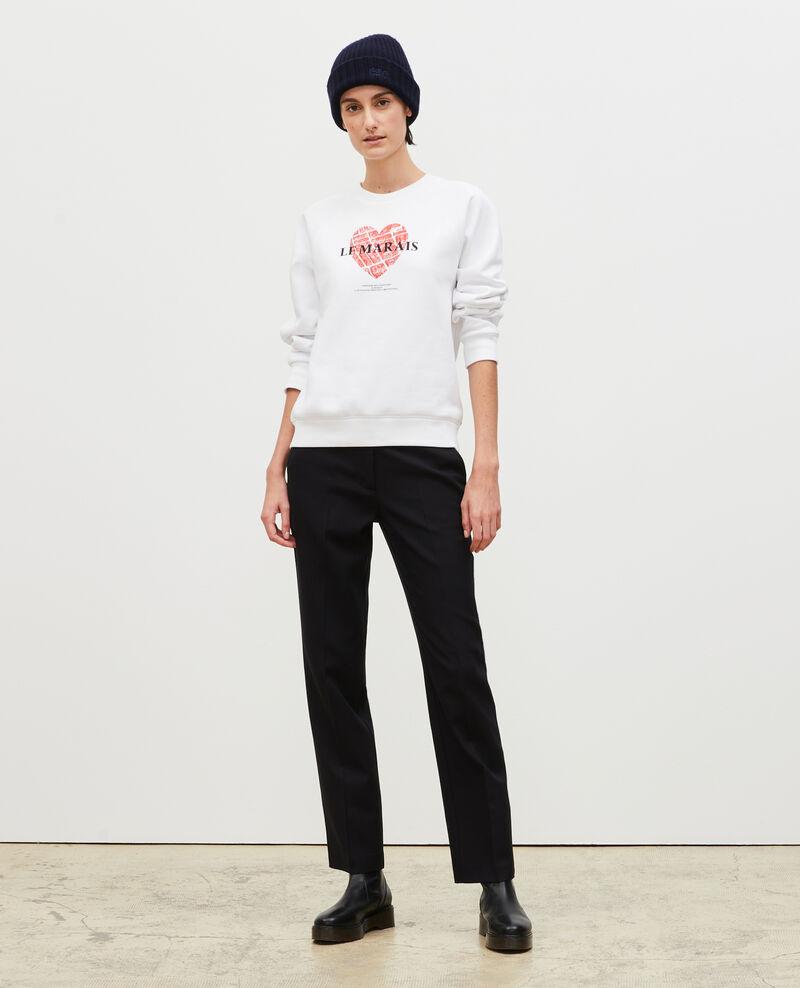 Sweatshirt en molleton Brilliant white Madeleina
