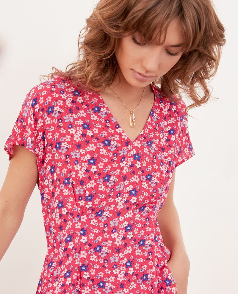 Blouse imprimée Honolulu ultra pink Fily