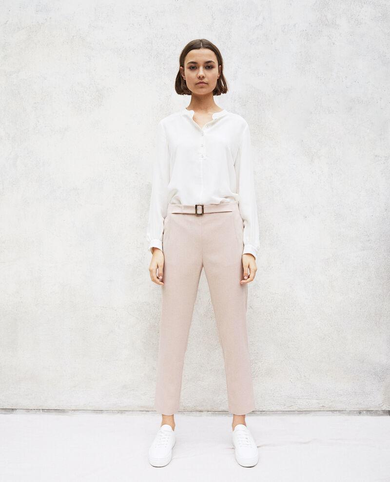 Pantalon coupe droite Pink beige Ilda
