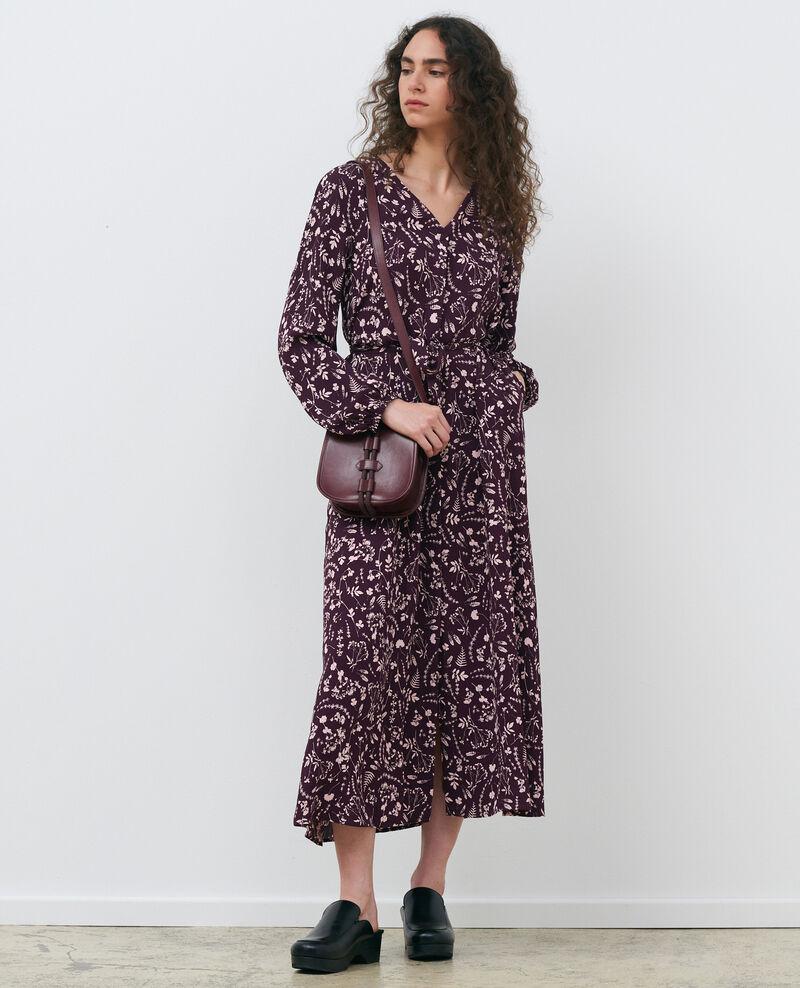 Robe longue imprimée Cyanotype purple Pavish