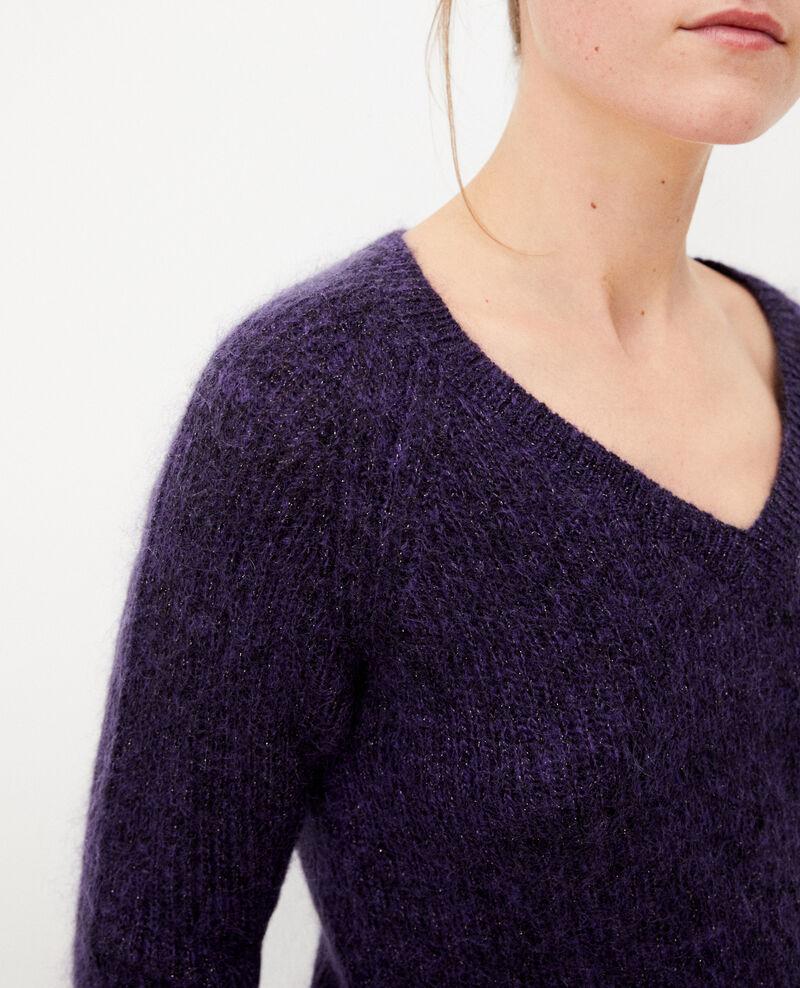 Pull avec du mohair et du lurex Purple/noir/lurex Getoile