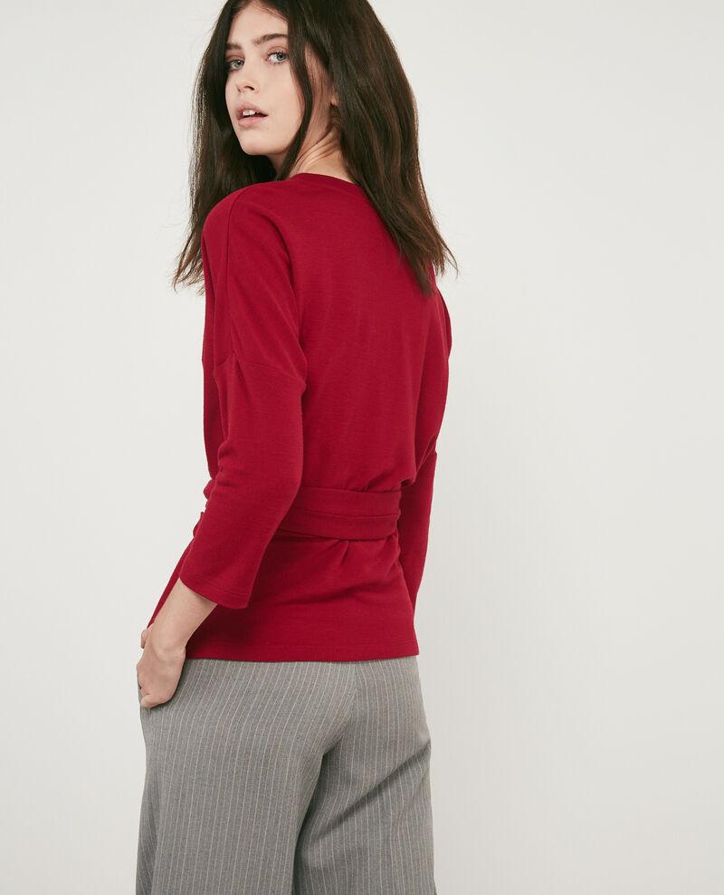 Sweatshirt à ceinture avec laine Devil Debongout