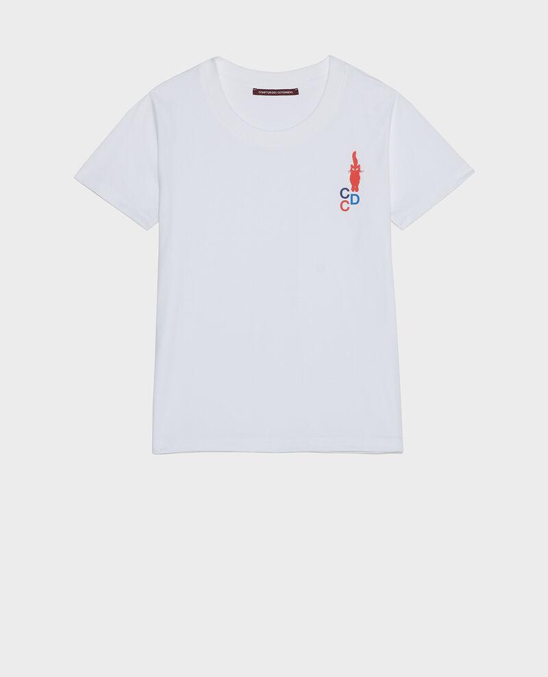 T-shirt en coton Fiery red Lecit