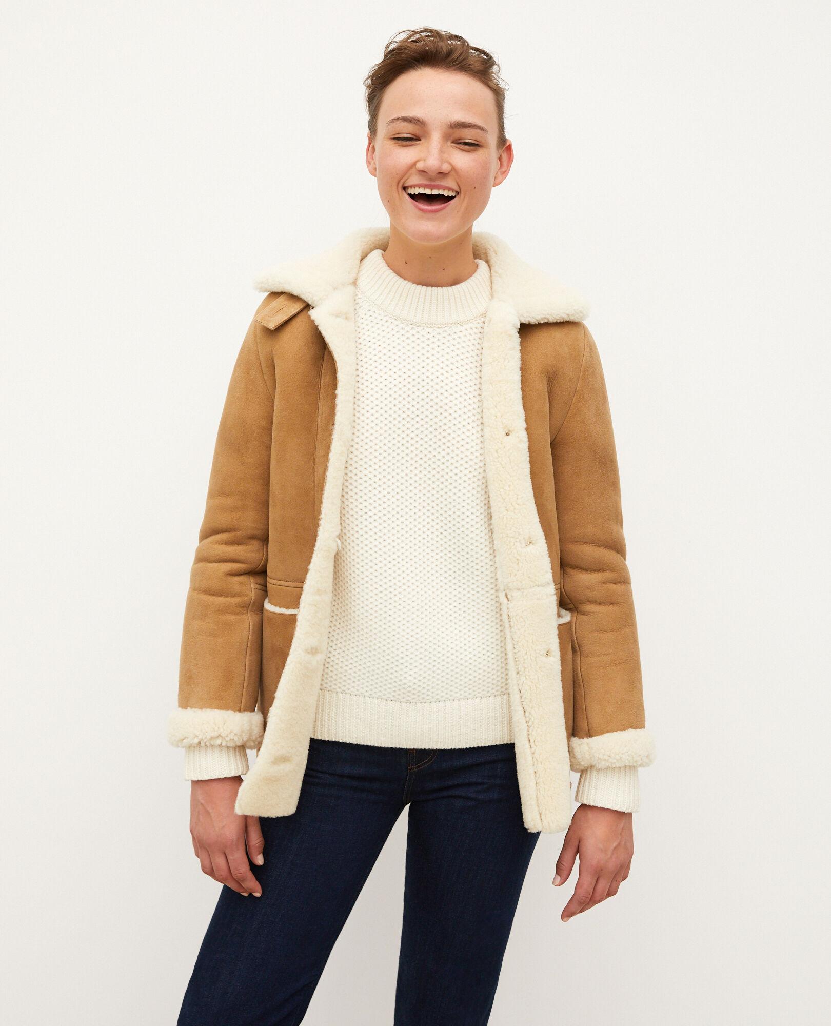 vest mouton retourné femme