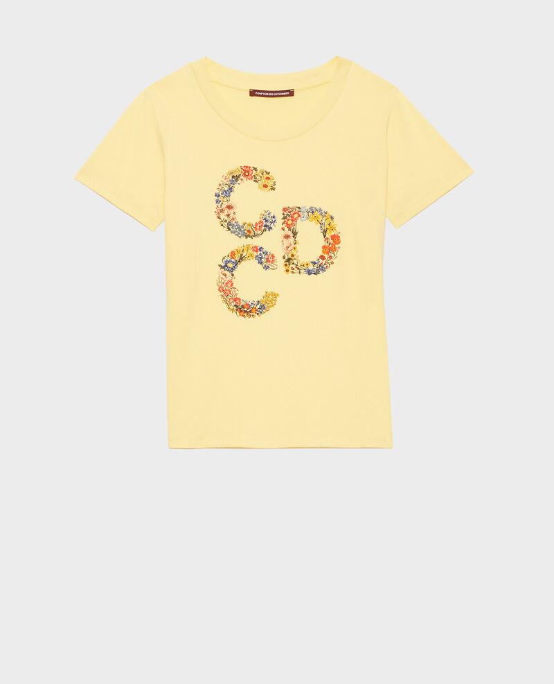 T-shirt en coton manches courtes Lemon drop Mae