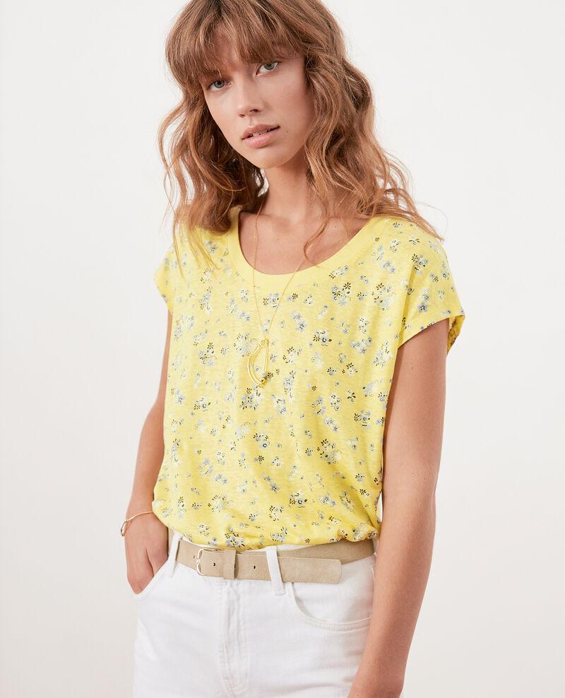 T-shirt imprimé fleuri Lillybell lemon Franka