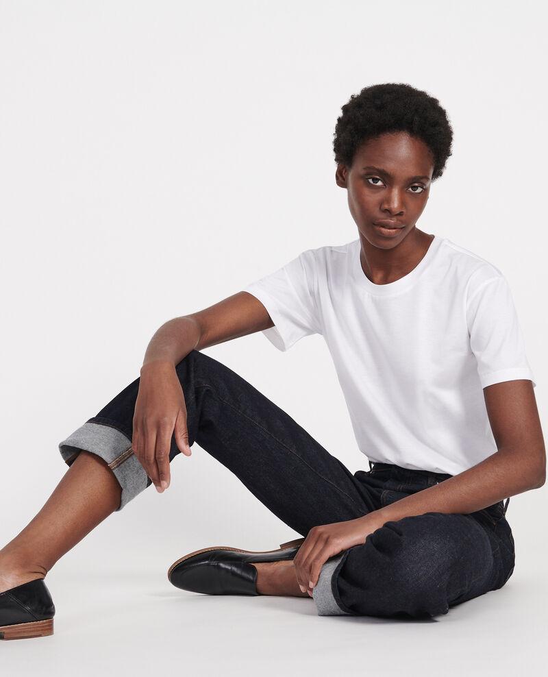 T-shirt classique en coton Optical white Lirous
