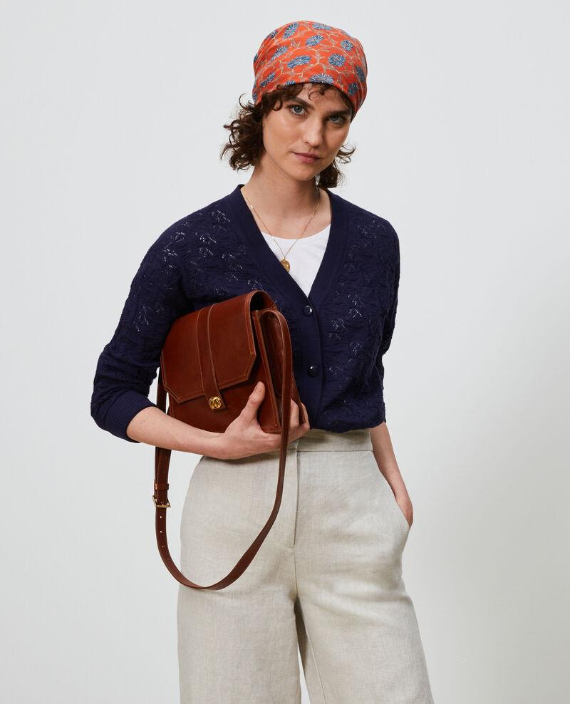 Cardigan en coton et lin Maritime blue Lafiora