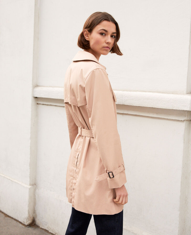 Trench intemporel court Pink beige Isore