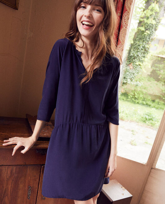 Robe avec de la soie EVENING BLUE