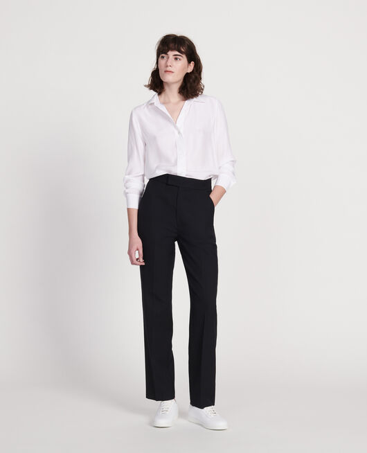 Pantalon droit en laine sèche BLACK BEAUTY