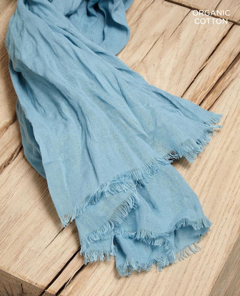 Foulard en coton organique Bleu Geste