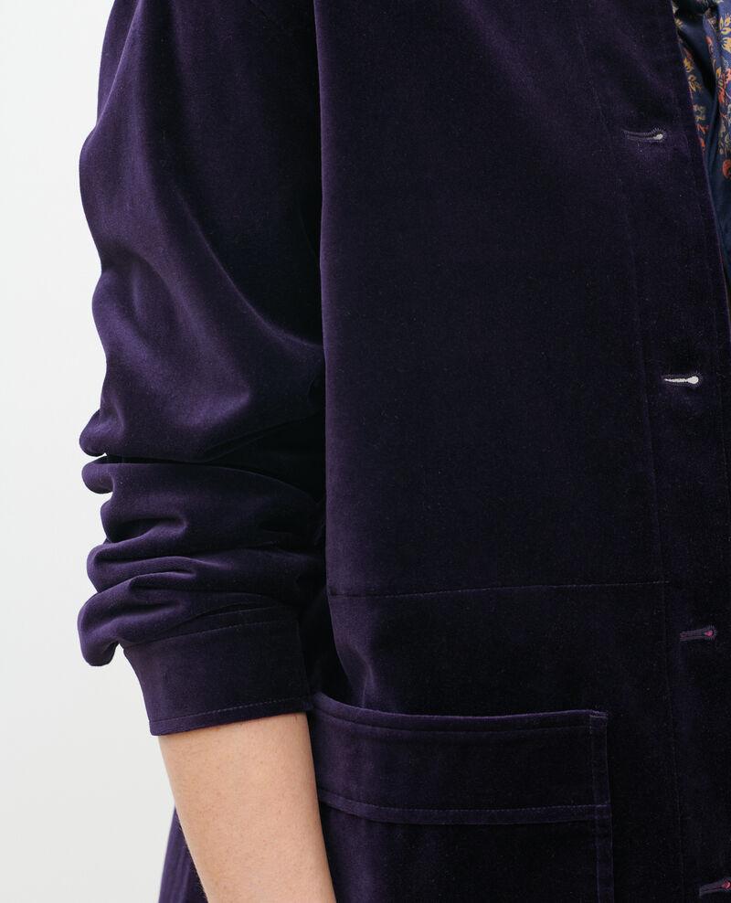 Veste courte en velours de coton Purple Palipine