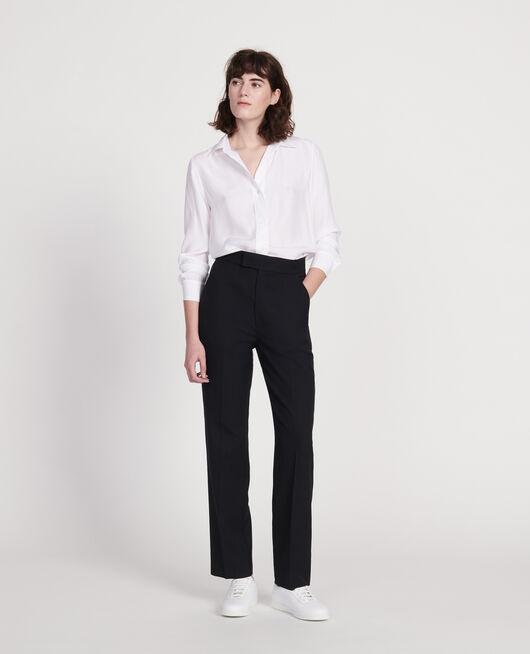 Pantalon droit en laine sèche BLACK BEAUTY