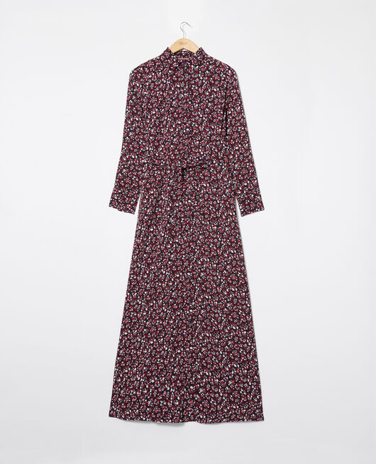 Robe longue imprimée NF NOIR