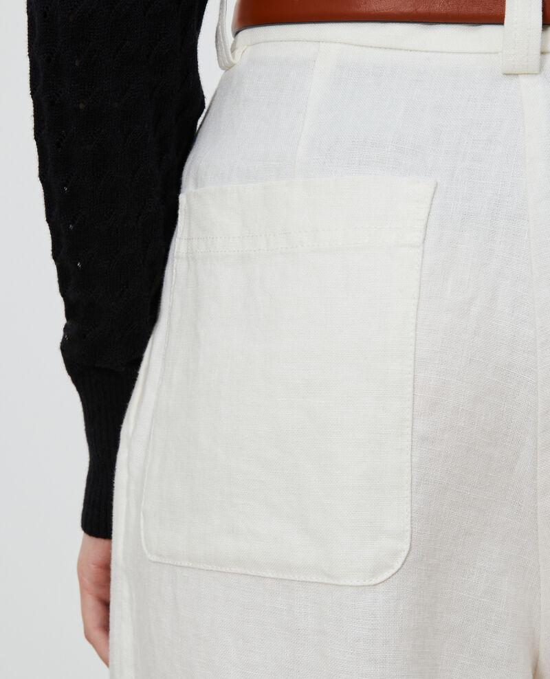 Pantalon YVONNE taille haute en lin Gardenia Lafare