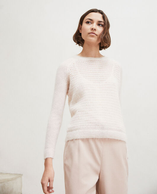 Pull avec du mohair LIGHT PINK
