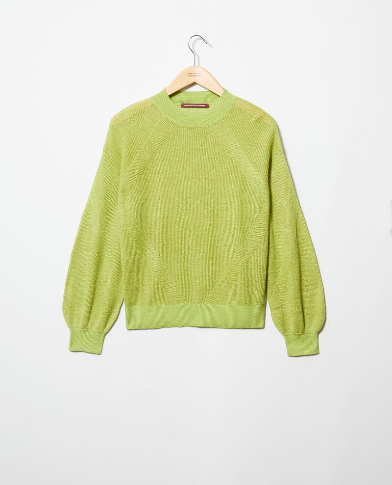 Pull en lin Lime green Icote