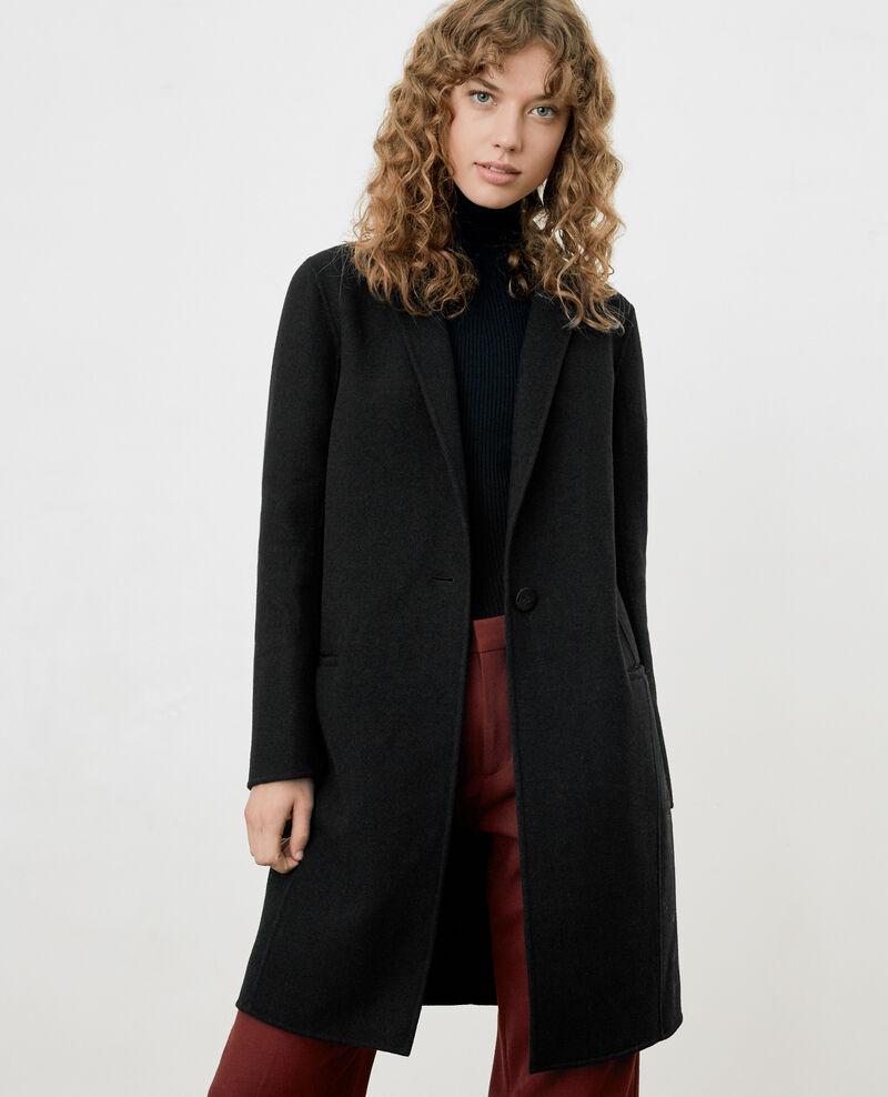 Manteau en laine femme double face couleur noir 9dexpresso comptoir des cotonniers - Comptoir des cotonniers recrutement ...