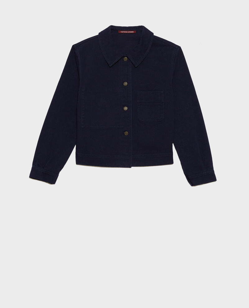 Veste courte en coton Maritime blue Nana