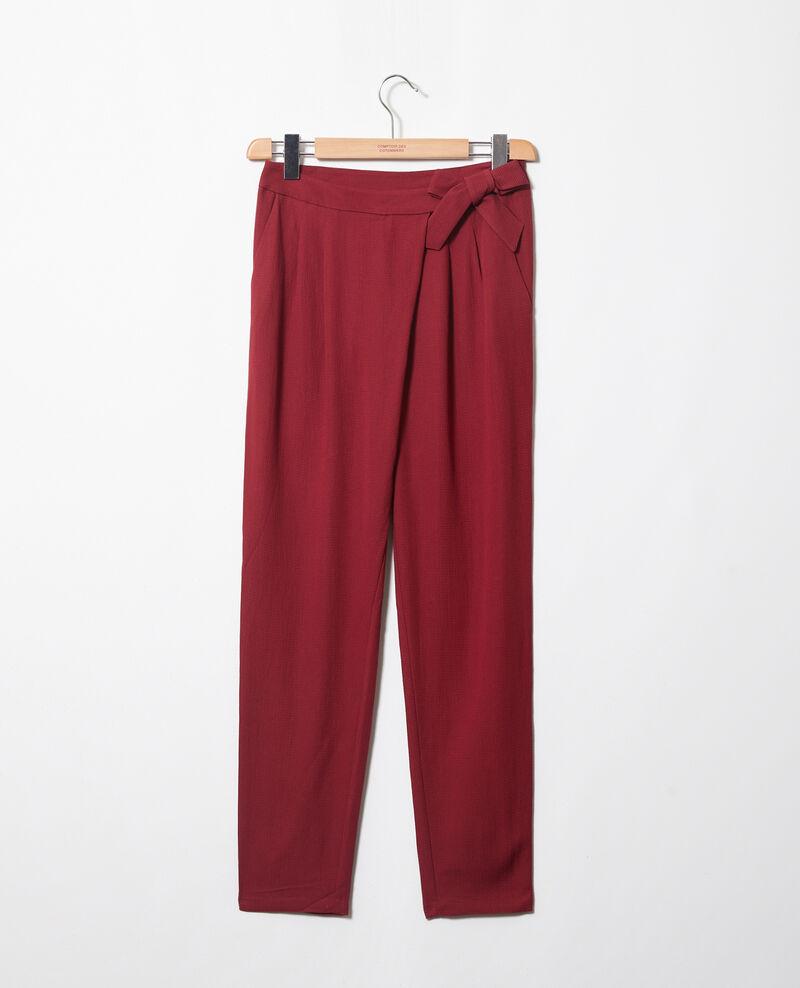 Pantalon de type sarouel avec nœud Cabernet Inoise